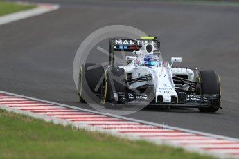 World © Octane Photographic Ltd. Williams Martini Racing, Williams Mercedes FW38 – Valtteri Bottas. Friday 22nd July 2016, F1 Hungarian GP Practice 2, Hungaroring, Hungary. Digital Ref : 1641LB1D1843