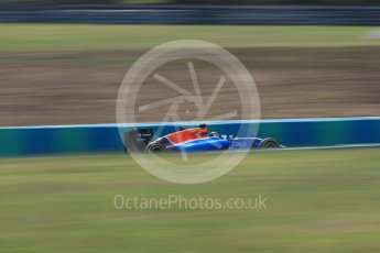 World © Octane Photographic Ltd. Manor Racing MRT05 - Pascal Wehrlein. Friday 22nd July 2016, F1 Hungarian GP Practice 2, Hungaroring, Hungary. Digital Ref : 1641LB1D2341