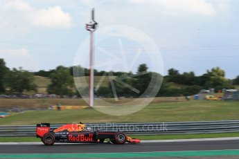 World © Octane Photographic Ltd. Red Bull Racing RB12 – Max Verstappen. Friday 22nd July 2016, F1 Hungarian GP Practice 2, Hungaroring, Hungary. Digital Ref : 1641LB2D1280