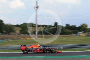 World © Octane Photographic Ltd. Red Bull Racing RB12 – Max Verstappen. Friday 22nd July 2016, F1 Hungarian GP Practice 2, Hungaroring, Hungary. Digital Ref : 1641LB2D1324