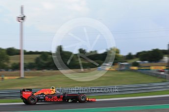 World © Octane Photographic Ltd. Red Bull Racing RB12 – Max Verstappen. Friday 22nd July 2016, F1 Hungarian GP Practice 2, Hungaroring, Hungary. Digital Ref : 1641LB2D1393