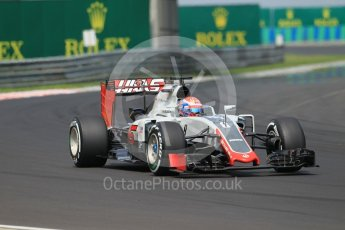 World © Octane Photographic Ltd. Haas F1 Team VF-16 – Romain Grosjean. Saturday 23rd July 2016, F1 Hungarian GP Practice 3, Hungaroring, Hungary. Digital Ref :1647CB1D7616