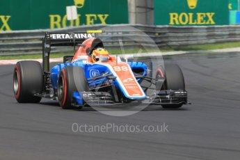 World © Octane Photographic Ltd. Manor Racing MRT05 – Rio Haryanto. Saturday 23rd July 2016, F1 Hungarian GP Practice 3, Hungaroring, Hungary. Digital Ref :1647CB1D7754