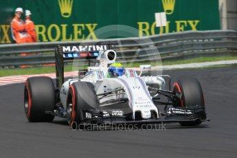 World © Octane Photographic Ltd. Williams Martini Racing, Williams Mercedes FW38 – Felipe Massa. Saturday 23rd July 2016, F1 Hungarian GP Practice 3, Hungaroring, Hungary. Digital Ref :1647CB1D7821