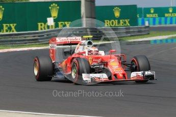 World © Octane Photographic Ltd. Scuderia Ferrari SF16-H – Kimi Raikkonen. Saturday 23rd July 2016, F1 Hungarian GP Practice 3, Hungaroring, Hungary. Digital Ref :1647CB1D7929