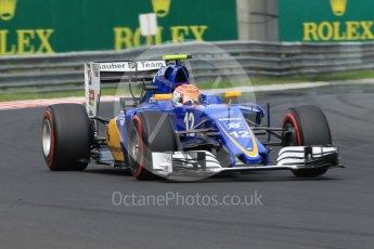 World © Octane Photographic Ltd. Sauber F1 Team C35 – Felipe Nasr. Saturday 23rd July 2016, F1 Hungarian GP Practice 3, Hungaroring, Hungary. Digital Ref :1647CB1D8140
