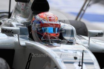 World © Octane Photographic Ltd. Haas F1 Team VF-16 – Romain Grosjean. Saturday 23rd July 2016, F1 Hungarian GP Practice 3, Hungaroring, Hungary. Digital Ref : 1647LB1D3394