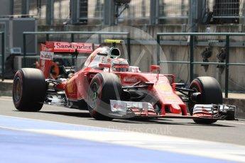 World © Octane Photographic Ltd. Scuderia Ferrari SF16-H – Kimi Raikkonen. Saturday 23rd July 2016, F1 Hungarian GP Practice 3, Hungaroring, Hungary. Digital Ref : 1647LB1D3504