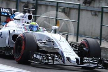 World © Octane Photographic Ltd. Williams Martini Racing, Williams Mercedes FW38 – Felipe Massa. Saturday 23rd July 2016, F1 Hungarian GP Practice 3, Hungaroring, Hungary. Digital Ref : 1647LB1D3582