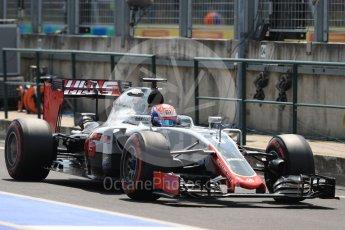World © Octane Photographic Ltd. Haas F1 Team VF-16 – Romain Grosjean. Saturday 23rd July 2016, F1 Hungarian GP Practice 3, Hungaroring, Hungary. Digital Ref : 1647LB1D3651