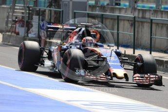 World © Octane Photographic Ltd. Scuderia Toro Rosso STR11 – Daniil Kvyat. Saturday 23rd July 2016, F1 Hungarian GP Practice 3, Hungaroring, Hungary. Digital Ref : 1647LB1D3810