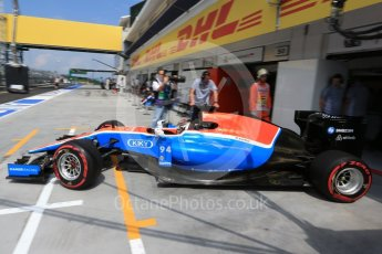 World © Octane Photographic Ltd. Manor Racing MRT05 - Pascal Wehrlein. Saturday 23rd July 2016, F1 Hungarian GP Practice 3, Hungaroring, Hungary. Digital Ref : 1647LB2D0006