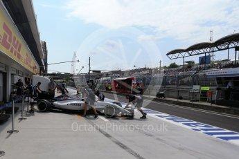 World © Octane Photographic Ltd. Williams Martini Racing, Williams Mercedes FW38 – Valtteri Bottas. Saturday 23rd July 2016, F1 Hungarian GP Practice 3, Hungaroring, Hungary. Digital Ref : 1647LB2D9985