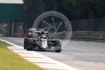 World © Octane Photographic Ltd. McLaren Honda MP4-31 – Jenson Button with Halo. Friday 2nd September 2016, F1 Italian GP Practice 1, Monza, Italy. Digital Ref :1697LB1D4623