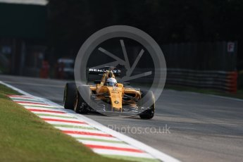 World © Octane Photographic Ltd. Renault Sport F1 Team RS16 - Kevin Magnussen. Friday 2nd September 2016, F1 Italian GP Practice 1, Monza, Italy. Digital Ref :1697LB1D4989