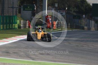 World © Octane Photographic Ltd. Renault Sport F1 Team RS16 – Jolyon Palmer. Friday 2nd September 2016, F1 Italian GP Practice 1, Monza, Italy. Digital Ref :1697LB1D5105