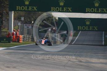 World © Octane Photographic Ltd. Manor Racing MRT05 - Pascal Wehrlein. Friday 2nd September 2016, F1 Italian GP Practice 1, Monza, Italy. Digital Ref :1697LB1D5149
