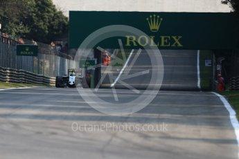 World © Octane Photographic Ltd. Sahara Force India VJM09 - Sergio Perez. Friday 2nd September 2016, F1 Italian GP Practice 1, Monza, Italy. Digital Ref :1697LB1D5391