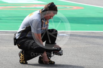 World © Octane Photographic Ltd. Pirelli technician measuring the track temperature. Saturday 3rd September 2016, F1 Italian GP Practice 3, Monza, Italy. Digital Ref :1704LB1D7963