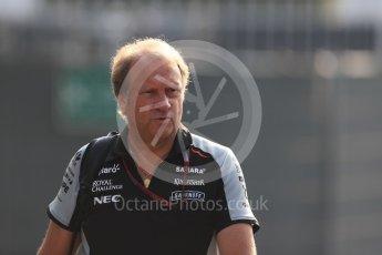 World © Octane Photographic Ltd. Sahara Force India Deputy Team Principal - Bob Fernley. Saturday 3rd September 2016, F1 Italian GP Paddock, Monza, Italy. Digital Ref :1696LB1D7126