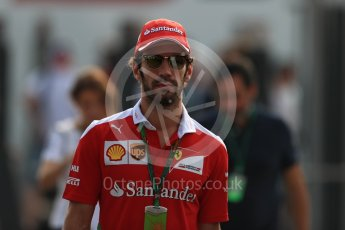World © Octane Photographic Ltd. Scuderia Ferrari SF16-H test driver– Jean-Eric Vergne. Saturday 3rd September 2016, F1 Italian GP Paddock, Monza, Italy. Digital Ref :1696LB1D7467