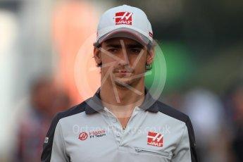 World © Octane Photographic Ltd. Haas F1 Team VF-16 - Esteban Gutierrez. Sunday 4th September 2016, F1 Italian GP Paddock, Monza, Italy. Digital Ref :1708LB1D9439