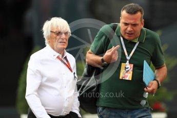 World © Octane Photographic Ltd. Bernie Ecclestone. Sunday 4th September 2016, F1 Italian GP Paddock, Monza, Italy. Digital Ref :1708LB1D9600