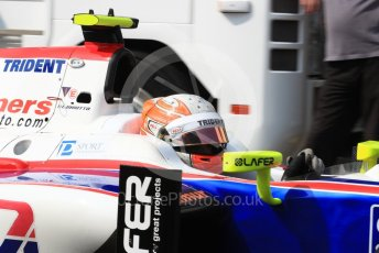 World © Octane Photographic Ltd. Trident - GP2/11 – Luca Ghiotto. Friday 2nd September 2016, GP2 Practice, Monza, Italy. Digital Ref : 1698LB1D5944