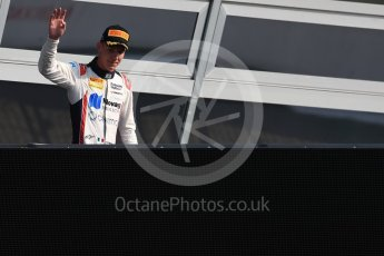 World © Octane Photographic Ltd. Russian Time - GP2/11 – Raffaele Marciello. Saturday 3rd September 2016, GP2 Race 1 PPodium, Monza, Italy. Digital Ref :1700LB1D8879