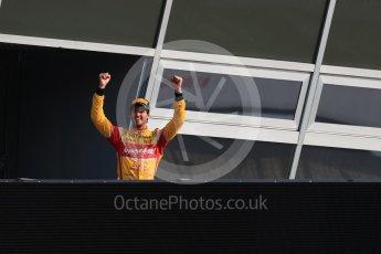 World © Octane Photographic Ltd. Prema Racing - GP2/11 – Antonia Giovinazzi. Saturday 3rd September 2016, GP2 Race 1 Podium, Monza, Italy. Digital Ref :1700LB1D8890