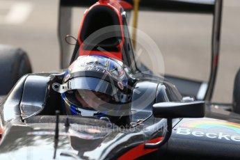 World © Octane Photographic Ltd. Rapax - GP2/11 – Gustav Malja. Saturday 3rd September 2016, GP2 Race 1 Parc Ferme, Monza, Italy. Digital Ref :1700LB2D6615