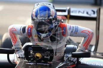 World © Octane Photographic Ltd. Rapax - GP2/11 – Gustav Malja. Saturday 3rd September 2016, GP2 Race 1 Parc Ferme, Monza, Italy. Digital Ref :1700LB2D6618