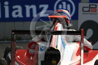World © Octane Photographic Ltd. ART Grand Prix – GP3/16 – Alexander Albon. Sunday 4th September 2016, GP3 Race 2 Parc Ferme, Spa-Francorchamps, Belgium. Digital Ref :1703LB1D9622