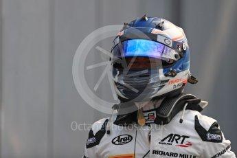 World © Octane Photographic Ltd. ART Grand Prix – GP3/16 – Nyck de Vries Sunday 4th September 2016, GP3 Race 2 Parc Ferme, Spa-Francorchamps, Belgium. Digital Ref :1703LB1D9658