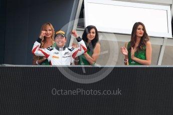 World © Octane Photographic Ltd. ART Grand Prix – GP3/16 – Nyck de Vries Sunday 4th September 2016, GP3 Race 2 Podium, Spa-Francorchamps, Belgium. Digital Ref :1703LB1D9699