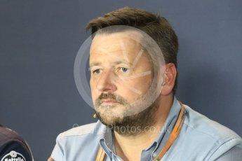 World © Octane Photographic Ltd. F1 Italian GP FIA Personnel Press Conference, Monza, Italy. Friday 2nd September 2016. Paul Hembery – Pirelli. Digital Ref : 1701LB1D6554