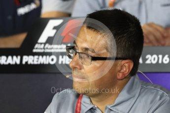 World © Octane Photographic Ltd. F1 Italian GP FIA Personnel Press Conference, Monza, Italy. Friday 2nd September 2016. Luca Furbatto – Chief Designer Manor Racing. Digital Ref : 1701LB1D6587