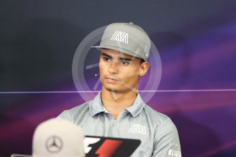 World © Octane Photographic Ltd. F1 Singapore GP FIA Driver Press Conference, Suzuka Circuit, Suzuka, Japan. Thursday 6th October 2016 Manor Racing - Pascal Wehrlein. Digital Ref : 1727LB1D3249