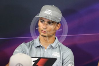 World © Octane Photographic Ltd. F1 Singapore GP FIA Driver Press Conference, Suzuka Circuit, Suzuka, Japan. Thursday 6th October 2016 Manor Racing - Pascal Wehrlein. Digital Ref : 1727LB1D3310
