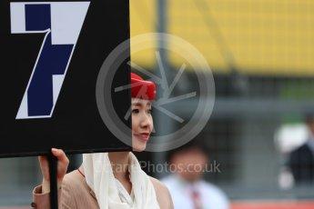 World © Octane Photographic Ltd. Emirates grid girls. Sunday 9th October 2016, F1 Japanese GP - Grid, Suzuka Circuit, Suzuka, Japan. Digital Ref :1735LB1D6965