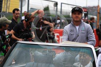 World © Octane Photographic Ltd. Mercedes AMG Petronas W07 Hybrid – Nico Rosberg. Sunday 9th October 2016, F1 Japanese GP - Drivers' parade. Suzuka Circuit, Suzuka, Japan. Digital Ref :1735LB1D7073