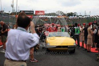 World © Octane Photographic Ltd. Scuderia Ferrari SF16-H – Kimi Raikkonen. Sunday 9th October 2016, F1 Japanese GP - Drivers' parade, Suzuka Circuit, Suzuka, Japan. Digital Ref :1735LB1D7078