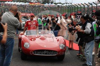 World © Octane Photographic Ltd. Scuderia Ferrari SF16-H – Sebastian Vettel. Sunday 9th October 2016, F1 Japanese GP - Drivers' parade, Suzuka Circuit, Suzuka, Japan. Digital Ref :1735LB1D7082