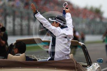 World © Octane Photographic Ltd. Williams Martini Racing, Williams Mercedes FW38 – Felipe Massa. Sunday 9th October 2016, F1 Japanese GP - Drivers' parade, Suzuka Circuit, Suzuka, Japan. Digital Ref :1735LB1D7108