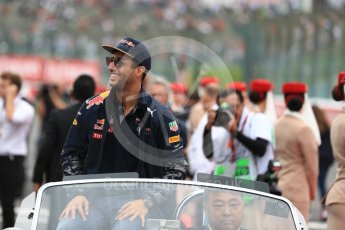 World © Octane Photographic Ltd. Red Bull Racing RB12 – Daniel Ricciardo. Sunday 9th October 2016, F1 Japanese GP - Drivers' parade, Suzuka Circuit, Suzuka, Japan. Digital Ref :1735LB1D7115
