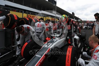 World © Octane Photographic Ltd. Haas F1 Team VF-16 - Esteban Gutierrez. Sunday 9th October 2016, F1 Japanese GP - Grid, Suzuka Circuit, Suzuka, Japan. Digital Ref :1735LB1D7232