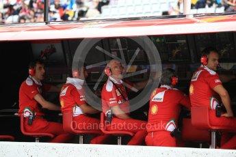 World © Octane Photographic Ltd. Scuderia Ferrari - Jock Clear and other members of the pit wall. Saturday 8th October 2016, F1 Japanese GP - Practice 3, Suzuka Circuit, Suzuka, Japan. Digital Ref : 1732LB2D3385
