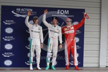World © Octane Photographic Ltd. Mercedes AMG Petronas W07 Hybrid – Nico Rosberg followed by Lewis Hamilton and Scuderia Ferrari SF16-H – Kimi Raikkonen. Saturday 8th October 2016, F1 Japanese GP - Qualifying. Suzuka Circuit, Suzuka, Japan. Digital Ref : 1733LB1D6879