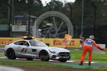 World © Octane Photographic Ltd. Marshals do a pit stop on the safety car. Saturday 8th October 2016, F1 Japanese GP - Qualifying, Suzuka Circuit, Suzuka, Japan. Digital Ref : 1733LB2D3739