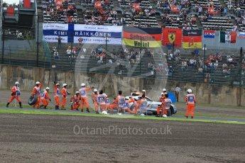 World © Octane Photographic Ltd. Marshals do a pit stop on the safety car. Saturday 8th October 2016, F1 Japanese GP - Qualifying, Suzuka Circuit, Suzuka, Japan. Digital Ref : 1733LB2D3767
